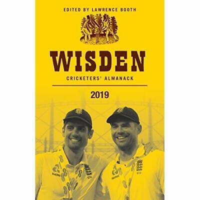 Wisden Cricketers' Almanack 2019 - Paperback / softback NEW Booth, Lawrence 11/0