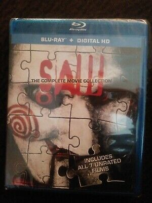 Saw: The Complete Movie Collection (Blu-ray 2014, 3-Disc Set) NO DIGITAL CODE