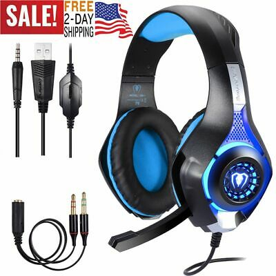 Stereo Bass Surround Gaming Headset for Sony PS4, XBOX ONE PC, Laptop,Cell Phone