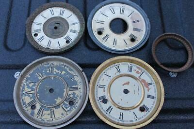 LOT OF VINTAGE Mantle Clock Face Glass Ring - PARTS or REPAIR
