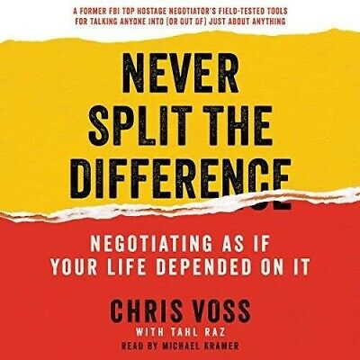 Never Split the Difference By Chris Voss (audiobook, Fast e-Delivery)