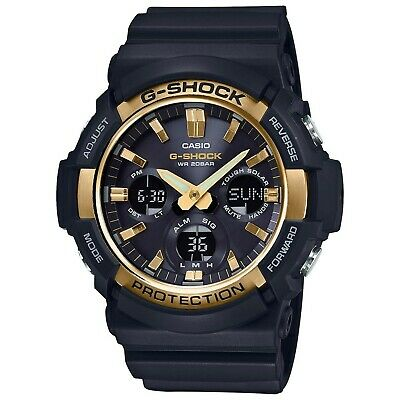 Casio G-Shock Black GAS100G-1A Tough Solar Resin & Stainless Steel Men's Watch