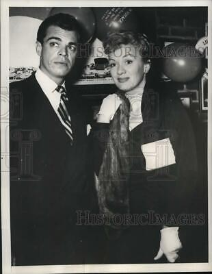 1951 Press Photo Actress Eve Arden & Brook West attend a party in New York