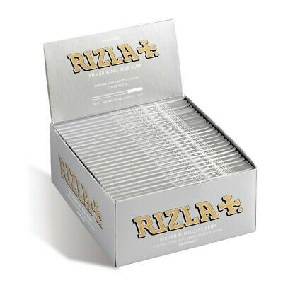 1,5,10,25,50 Genuine Rizla Silver King Size Slim Cigarette Rolling Papers New