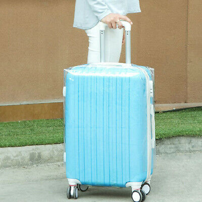 Transparent PVC Waterproof Suitcase Travel Luggage Cover Protector Fit 20-28""