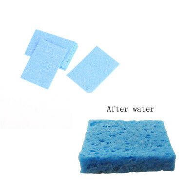 10pcs 6cm*6cm Soldering Iron Solder Tip Welding Cleaning Blue Sponge Pads Too AS