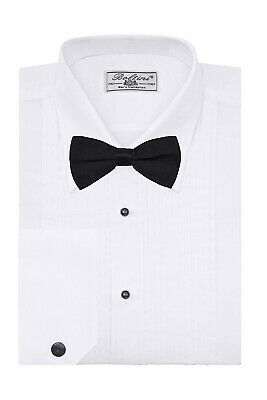 Boltini Italy Men's Lay-Down Collar Premium Tuxedo Dress Shirt with Bow Tie