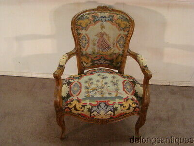 53396:Beautiful French Needlepoint Chair