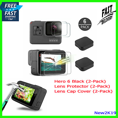Quality Tempered-Glass Screen Protector GoPro Hero 5 6 7 Black Lens Cap Cover