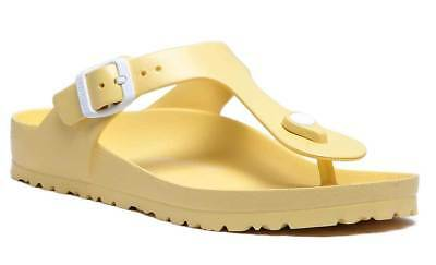 Birkenstock Gizeh Eva Womens Rubber Soft Yellow Toe Thong Sandals UK Size 3 - 8