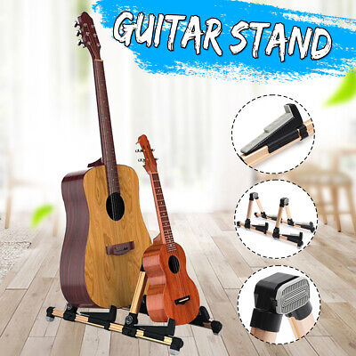 Portable Folding Aluminum Alloy Electric Acoustic Bass Pipa Double Guitar Stand