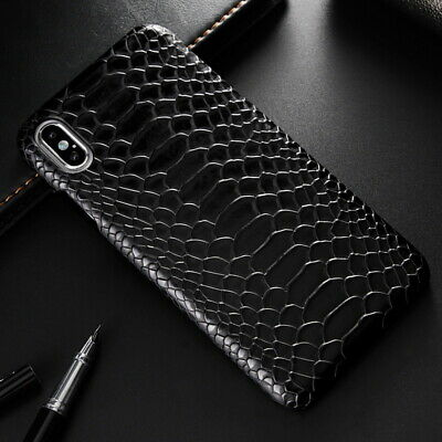 For iPhone 11 Pro Max Xs XR 8 7 + Luxury Snake Skin Leather Case Back Hard Cover