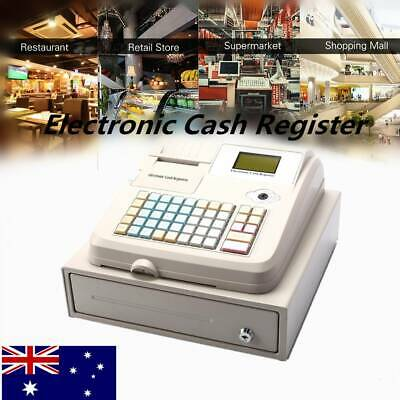 Electronic Cash Register with Drawer 36 Departments English Keyboard AU plug
