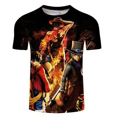7964cb4e4df2 Women Men TShirt Short Sleeve 3D Print Anime One Piece Monkey D Luffy  Casual Tee