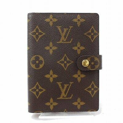 Authentic Louis Vuitton Diary Cover Agenda PM Browns Monogram 278335