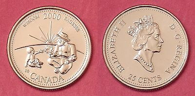 Proof Like 2000 Canada Wisdom 25 Cents From Mint's Set