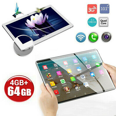 10.1 Inch 4G Android 7.0 Tablet PC 4GB+64GB Octa Core GPS WiFi Phone Phablet