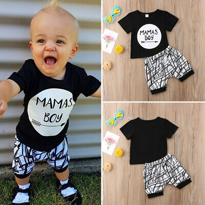 0f9ccff1652 Toddler Newborn Baby Boy Kids Clothes Set Short Sleeve T-Shirt Top+Pants  Outfit