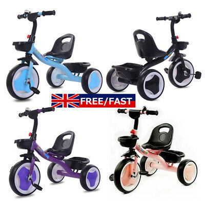 Children Tricycle 3 Wheels Boys Girls Kids Trike Ride-On Pedal Bike Child Gifts