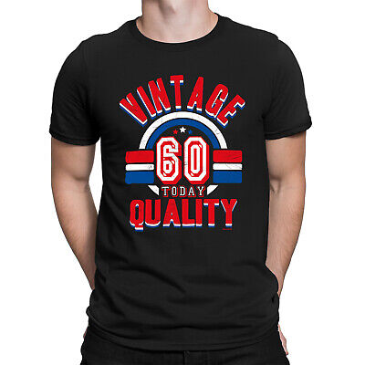 Mens 60th Birthday T-Shirt VINTAGE QUALITY 60 Today Funny Present Gift Top