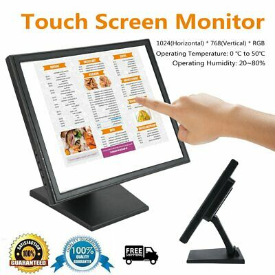 15/17 Inch Touch Screen Monitor LED POS Catering Order Machine Cash Register AU