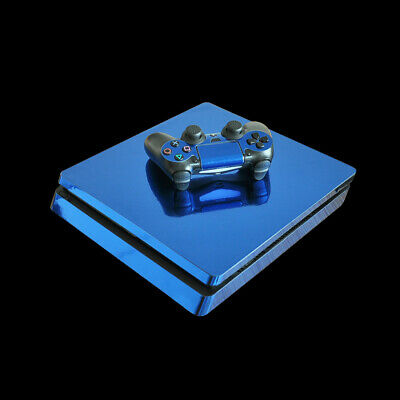 Plating blue PS4 slim decal sticker skins For playstation 4 slim #3