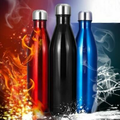 Stainless Steel Vacuum Insulated Water Bottle Flask Thermal Sports Chilly #UWB