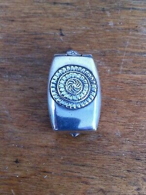 NICE  DECORATIVE ANTIQUE  SILVER PLATED PILL BOX 1.7 inches