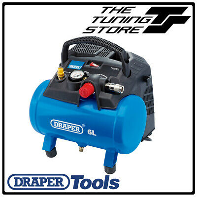 Draper 6 Litre Oil Free Small Compact Portable Air Line Compressor 1.5HP