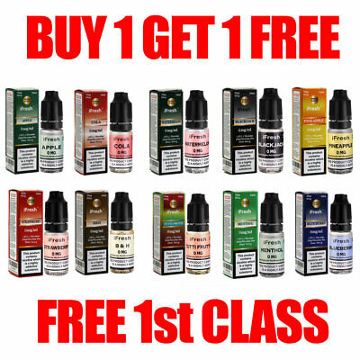iFresh E Liquid Vape Juice 10ml in 0mg 3mg 6mg 11mg and 18mg Eliquid