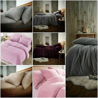 Teddy Bear Bedding Duvet Set+fitted sheet Extra furry Warm cosy Fluffy 4.0 ToG