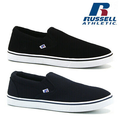 Mens Russell Athletic Trainers Casual Canvas Slip On Pumps Shoes Plimsolls Size