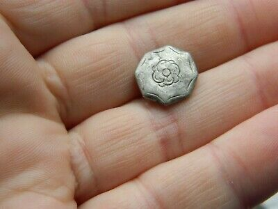 Post Medieval Silver Naval /  navy button Tudor Rose Metal detecting detector