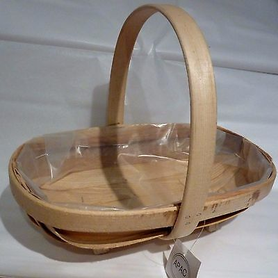 Softwood Trug Basket natural wood lined footed floristry arrangement display