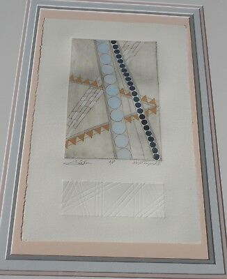 Vintage Artist Proof Print Frank Lloyd Wright Inspired Signed Titled & Framed