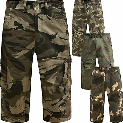 0580968f37 Mens Army Casual Work Cargo Combat Camouflage Shorts Cotton Chino Half Pant  Camo