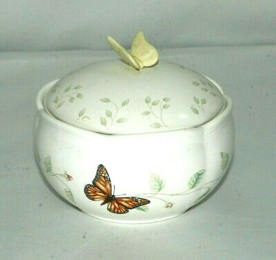 Lenox Butterfly Meadow Bowl w/ Lid EUC