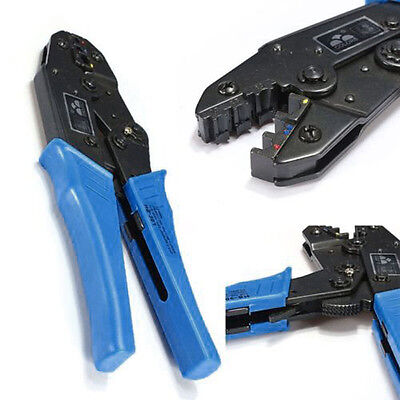 AWG22-10 Double Crimp Insulated Terminals Plier Ratcheting Crimper Crimping Tool