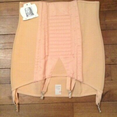 FRENCH 1960s WOMAN PIN UP NUDE CORSET GIRDLE - MADE IN FRANCE - NEW & TAG - M