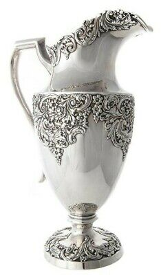 Black Starr & Frost Sterling Silver Large Pitcher / Ewer