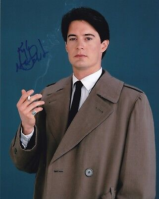 KYLE MacLACHLAN signed David Lynch's TWIN PEAKS / COOPER photo  REAL! PIC PROOF!