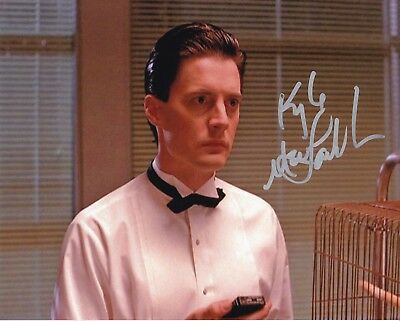 KYLE MacLACHLAN signed David Lynch's TWIN PEAKS / COOPER photo  REAL! IN-PERSON!