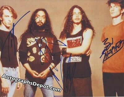 CHRIS CORNELL & SOUNDGARDEN signed vintage promo photo  REAL/IN-PERSON/PIC PROOF
