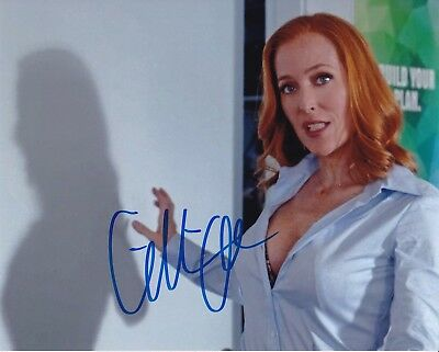 GILLIAN ANDERSON signed THE X-FILES / SEXY DANA SCULLY photo - REAL! PIC PROOF!