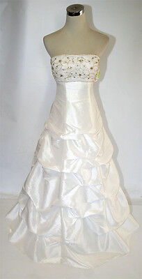 NWT HAILEY LOGAN $180 IVORY Evening Formal Prom Gown 5