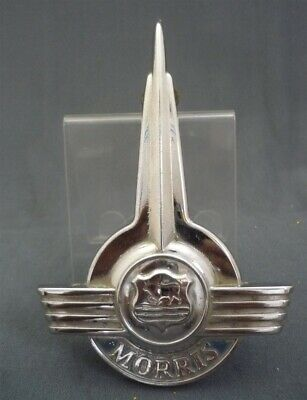 Vintage 1960s Morris Minor Car Bonnet Badge - British Motor Mascot Hood Ornament