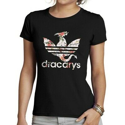 DRACARYS DRAGON FLOWERS T-SHIRT GOT Game of thrones 8 Men Women Kids C59