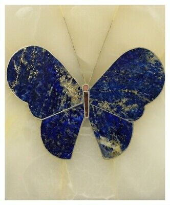 Box in Alabaster & Lapis Lazuli/Jewelry/Insert Butterfly Lapis