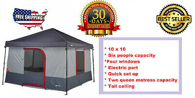 Camping tent  6 Person 10 x 10 ft with windows, light, quick set up OZARK TRAIL