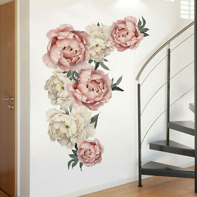 Peony Fresh Flower Wall Sticker Decal Removable PVC Wall Sticker Home Decor